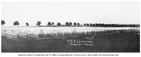 American Cemetery, St. Mihiel, France as it appeared in 1921.