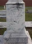 "Gravemarker of Frances J. Baskin, Beaver Dam Cemetery, Ray City, GA. The inscription reads, ""Wife of J.M. Baskin"" and ""with him an organizing member of Beaver Dam Baptist Church."""