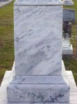Gravemarker of James Madison Baskin, Beaver Dam Cemetery, Ray City, GA.