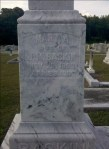 Gravemarker of Mary A. Baskin, Beaver Dam Cemetery, Ray City, GA.