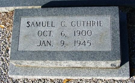 Samuel G. Guthrie (1900-1945), New Ramah Cemetery, Ray City, GA.