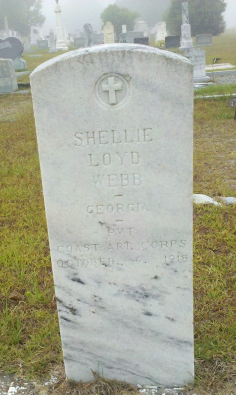 Grave Marker of Shellie Loyd Webb, Mt. Pleasant Cemetery, Berrien County, GA