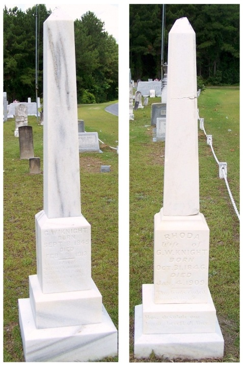 Rhoda Futch and George Washington Knight, Empire Cemetery, Lanier County, GA