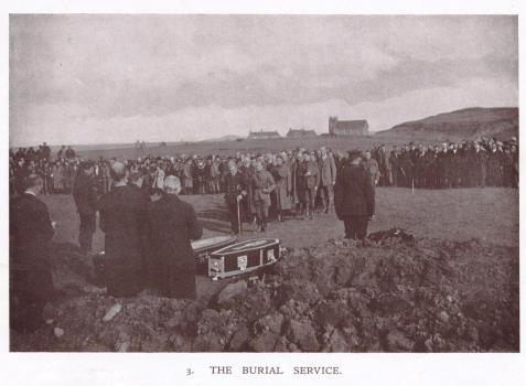 1918 Funeral Service for Victims of the Otranto Disaster, Island of Islay, Scotland