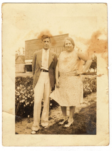 Samuel G. Guthrie of Ray City, GA with an unidentified friend.