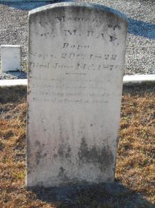 Grave marker of Thomas M. Ray, Cemetery at Union Church (aka Burnt Church), Lakeland, GA.
