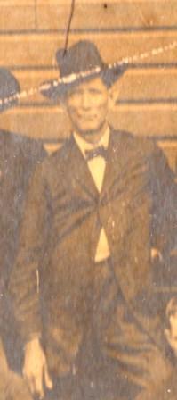 Walter Howard Knight, photographed at Beaver Dam Baptist Church (now known as Ray City Baptist Church), Ray City, GA.