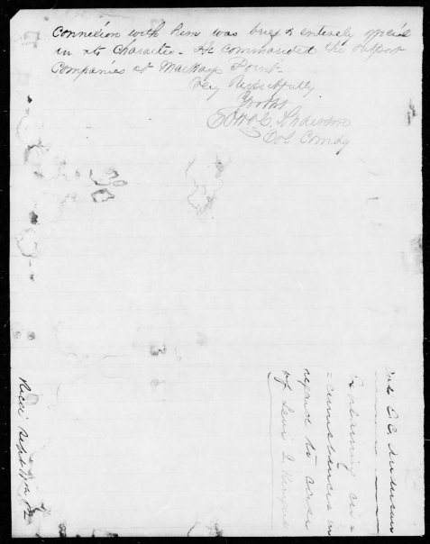 Colonel Edward C. Anderson letter of August 27, 1862 concerning Levi J. Knight and the Berrien Minute Men, Page 2