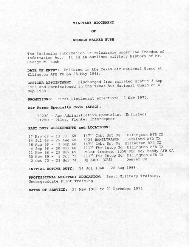 George W Bush Flew Ray City Skies Ray City History Blog