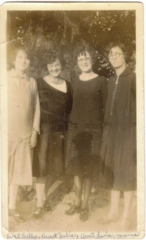 Knight Sisters of Ray City, GA. (L to R) Dollie Howard Knight, Julia Elizabeth Knight, Laurie Inez Knight, and Ruby Texas Knight.