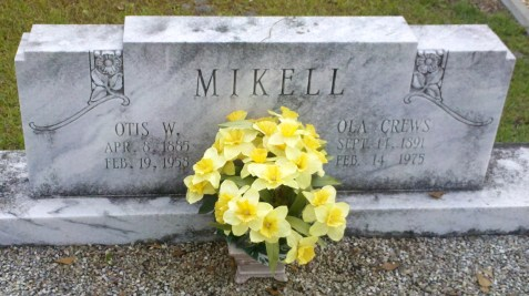 Ola Crews and Otis Mikell, New Ramah Cemetery, Ray City, GA