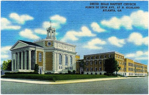 Druid Hills Baptist Church, Atlanta, GA, circa 1942.