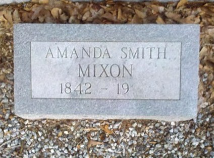 Gravemarker of Amanda Smith Mixon, 1842 - 19__, New Bethel Baptist Church Cemetery, Lowndes County, GA