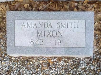 Gravemarker of Amanda Smith Mixon, 1842 - 19__, New Bethel Baptist Church Cemetery, Lowndes County, GA