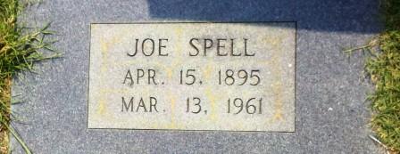 """Joseph John """"Joe"""" Spells (April 15, 1895 - March 13, 1961), Beaver Dam Cemetery, Ray City, GA."""