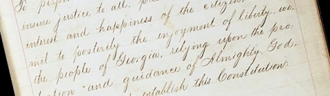 Preamble to the Georgia Constitution of 1877
