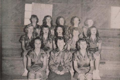 1950-51 Beaverettes, Ray City School girls basketball team, Ray City, GA