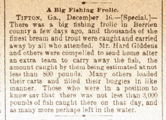 A Big Fishing Frolic. Dec 17, 1891.