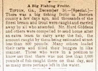 A Big Fishing Frolic. Dec 17, 1891.