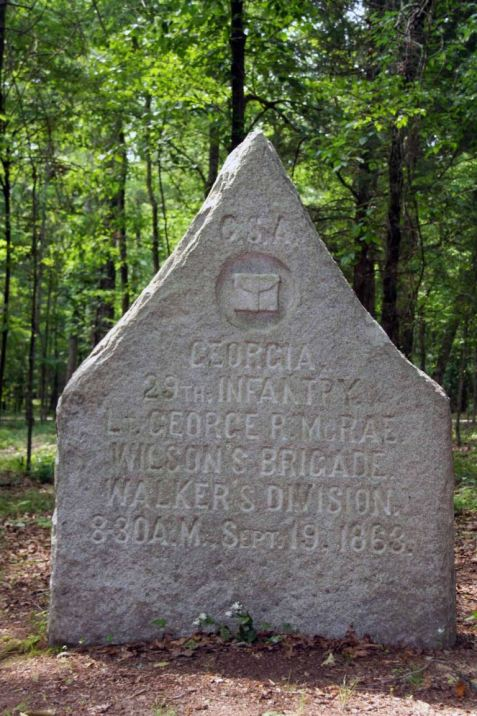 Georgia 29th Infantry, monument at Chicamauga battle field.