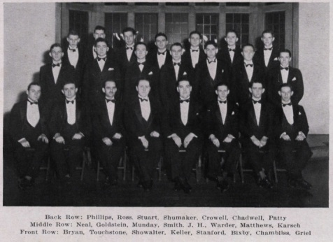 James H. Touchton, 1934, Vanderbilt University Glee Club.