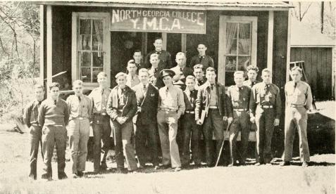Jamie Connel, 1939, with other members of the Y.M.C.A. at North Georgia College.