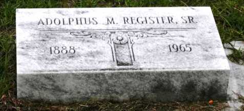 Adolphus M. Register (1888-1965), Fender Cemetery, Lakeland, Lanier, Georgia, USA