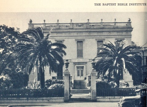 Another Alma Mater of Clayton Samuel Yawn was The Baptist Bible Institute of New Orleans (image circa 1938).