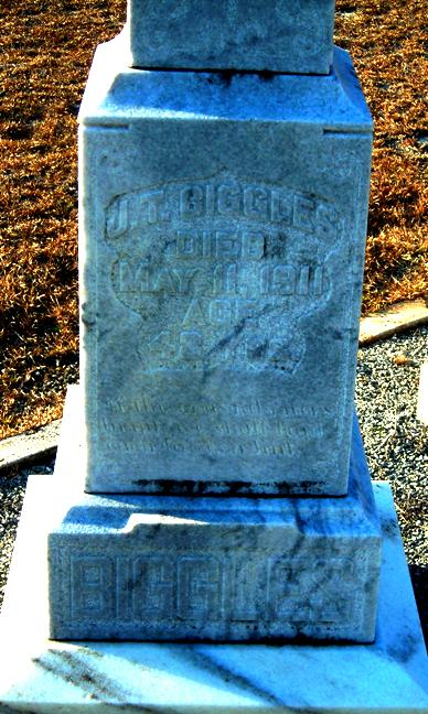 Grave Marker of James Thomas Biggles, Union Church Cemetery, Lanier County, GA