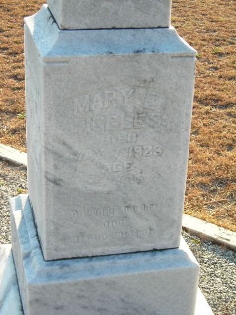 Gravemarker of Mary Elizabeth Pearson Biggles, Union Church Cemetery, Lanier County, Georgia