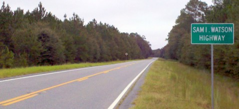 Samuel Irvin Watson Highway, near Ray City, GA.