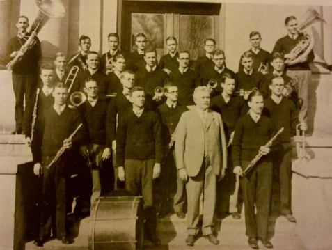 THE 1925 MERCER UNIVERSITY BAND: Kyle T. Alfriend, President; E.C. Middlebrooks, Secretary; Members, J. Noble Arnold, J. H. Anderson, Aubrey Abbott, Kyle T. Alfriend, J. W. Avery, J. Logan Bloodworth, Lawson F. Bell, Dan C. Benton, J. T. Cook, Walton W. Cook, J. P. Chapman, C. B. Fulghum, J. H. Fulghum, Roy Harrison, S. B. King, George Kent, R. T. Lee, E. C. Middlebrooks, O. H. Middlebrooks, W. P. Martin, J. H. Murray, J. T. Minor, William Mitchell, M. C. Townsend, Bruce P. Powers, Lamar R. Portain, Maynard Smith, J. E. Suires, Jack Taylor, L. H. Young, J. M. Hardy, Oliver Benson, C.C. Thomas, H. Williams, Mac Davis.