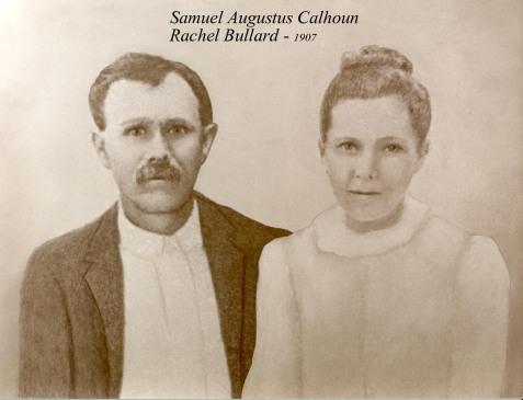 Samuel Augustus Calhoun and Rachel Bullard, circa 1907. Image courtesy of Irvin Mitchell Calhoun.