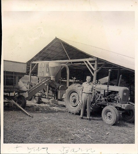 Joseph Burton Calhoun at work on the farm near Ray City, GA, circa 1955. (Image courtesy of I. Mitchell Calhoun)