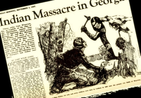 1927 Atlanta Journal account of the massacre of the Wildes family, 1832.