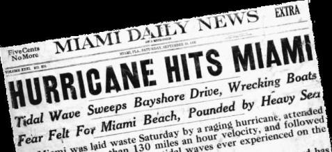 The hurricane that hit south Florida in September of 1926 was one of the worst storms in U.S. history.
