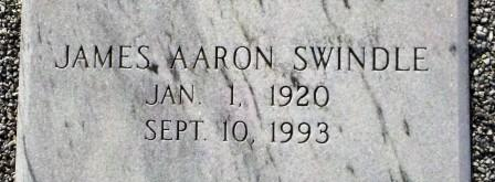 James Aaron Swindle (1920-1993), Beaver Dam Cemetery, Ray City, GA