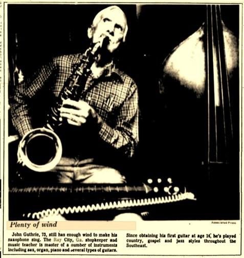 John Elwood Guthrie, Ray City musician and shopkeeper.
