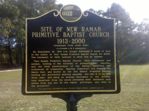 Historic Marker - New Ramah Church, Ray City, GA.