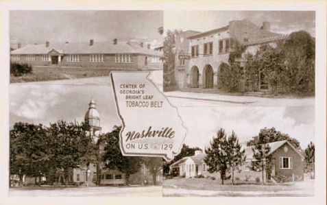 A postcard produced from photos taken by Jamie Connell, circa 1950s.