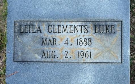 Grave of Leila Clements Luke, Old City Cemetery, Nashville, GA