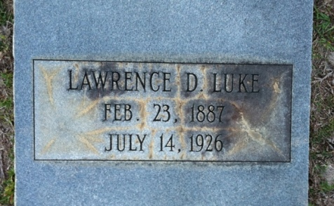Grave of Lawrence D. Luke, Old City Cemetery, Nashville, GA