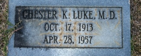 Grave of Chester K. Luke, Old City Cemetery, Nashville, GA