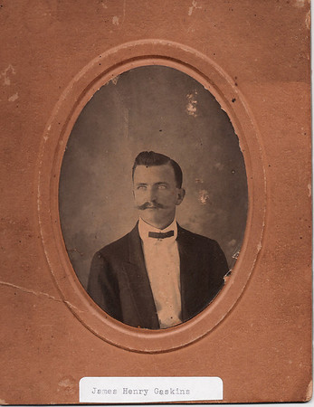 When James Henry Gaskins was serving as Deputy Clerk of the Berrien County Superior Court, he lived in the Connell's Mill District, near Ray City, GA.