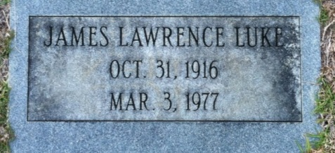 Grave of James Lawrence Luke, Old City Cemetery, Nashville, GA