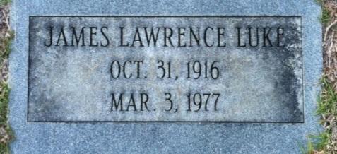 Grave of James Lawrence Luke, Old City Cemetery, Nashville, GA