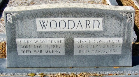 Grave of Henry Washington Woodard and Kiziah Corbitt, New Ramah Cemetery, Ray City, GA.