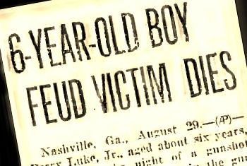 Horace Luke, age 6, was a victim of the 1926 Johnson-Luke fued in Berrien County, GA