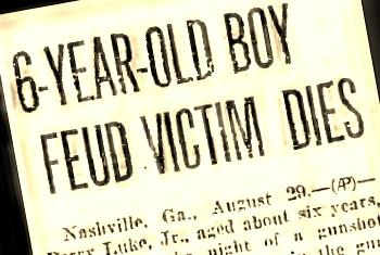 Horace Luke, age 6, was a victim of the 1926 Johnson-Luke fued in Berrien County, GA