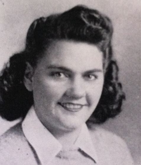 Frances Clements, of Ray City, GA. A 1944 sophomore at Georgia State Womans College, Valdosta, GA.